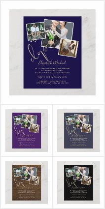 We Eloped Wedding Reception Invites/Announcements