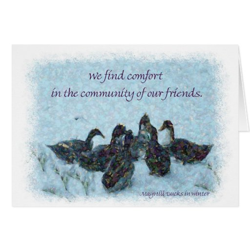 We Find Comfort Greeting Card