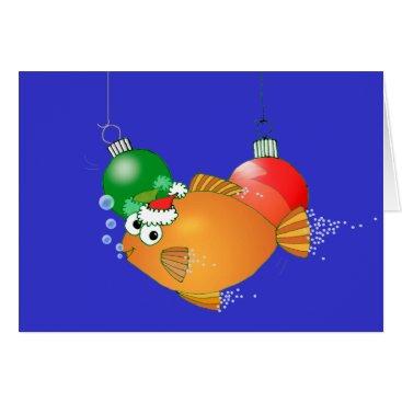 Christmas Themed We Fish you a Merry Christmas! Card