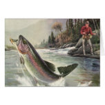 We Fish You A Merry Christmas, Vintage River Trout Greeting Card