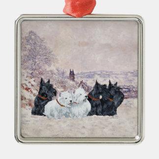 We Five Winter Metal Ornament
