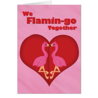 We Flamingo Together Card