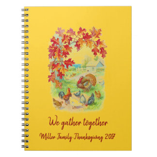 We Gather Together: Personalized Thanksgiving Notebook