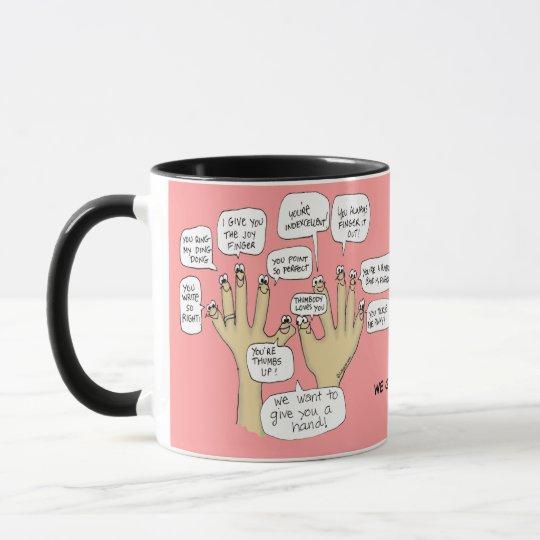 We Glove You Inspiration Cartoon Fingers Mug