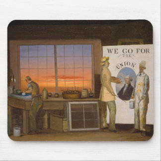 """We Go for the Union"", c.1840-1850 (oil on canvas) Mouse Pad"