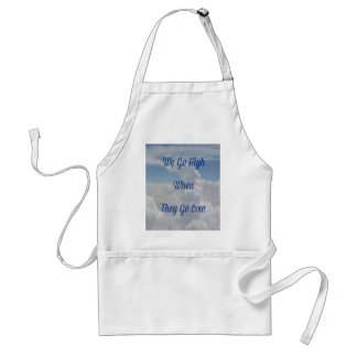 'We Go High' Quote Unusual Cloud Formation Adult Apron