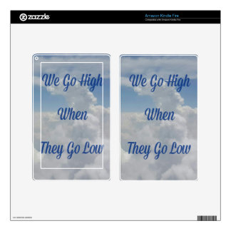 'We Go High' Quote Unusual Cloud Formation Decals For Kindle Fire