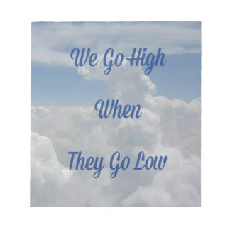 'We Go High' Quote Unusual Cloud Formation Notepad
