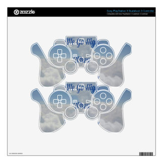 'We Go High' Quote Unusual Cloud Formation PS3 Controller Skins