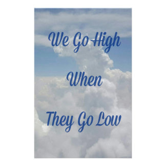 'We Go High' Quote Unusual Cloud Formation Stationery