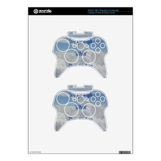 'We Go High' Quote Unusual Cloud Formation Xbox 360 Controller Decal