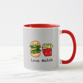We go together like burger and fries personalized mug
