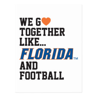 We Go Together Like Florida and Football Postcard