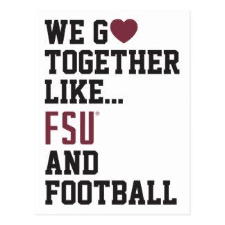 We Go Together Like FSU and Football Postcard