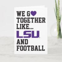 We Go Together Like LSU and Football Holiday Card