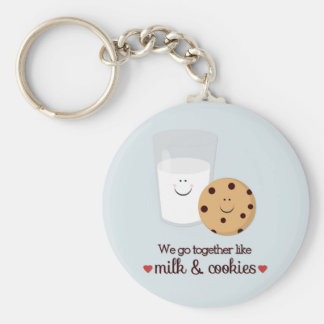 We Go Together Like Milk and Cookies Keychain