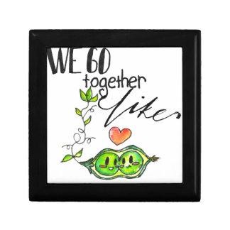 We Go Together like Peas in a Pod Keepsake Box