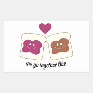 We Go Together like Rectangle Sticker