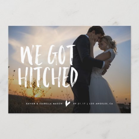 We Got Hitched Wedding Announcement