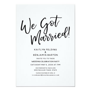wedding reception invitations zazzle