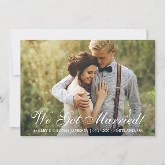 we got married elopement announcement zazzle com