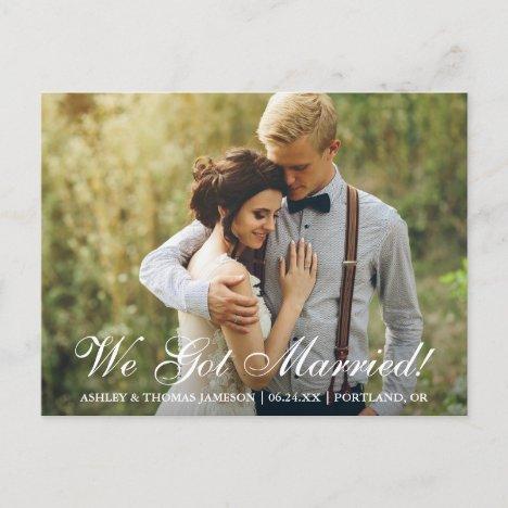 We Got Married! Elopement Announcement
