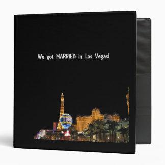 We got MARRIED in Las Vegas Album 3 Ring Binder