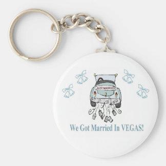We Got Married in VEGAS Keychain