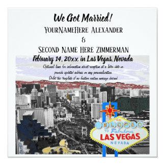 We Got Married Las Vegas Wedding Photo Card