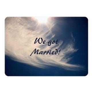 We got Married!  Luminous Sun Rays 5x7 Paper Invitation Card