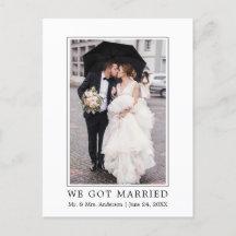 We Got Married Modern Simple Announcement Postcard
