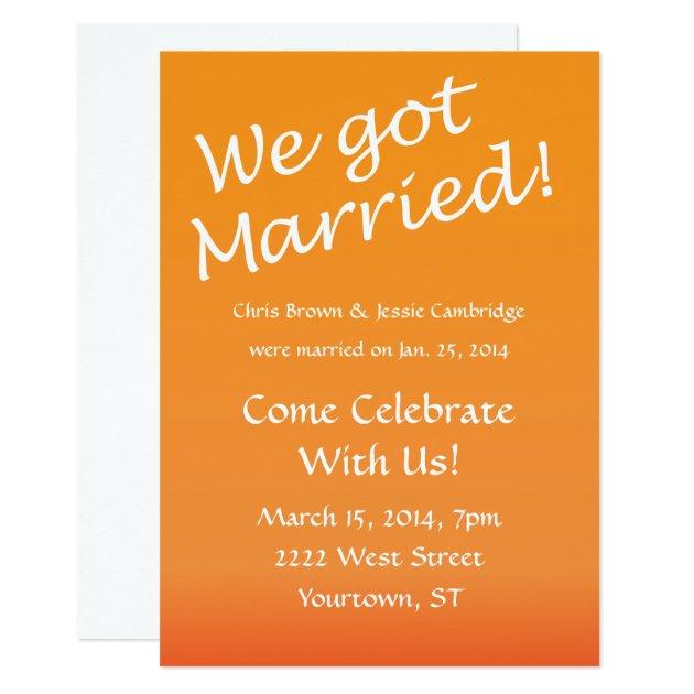 We Got Married! post wedding party invitation Zazzle