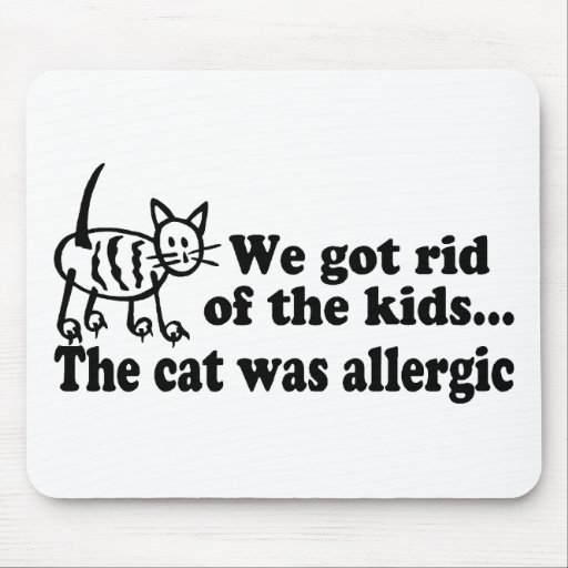 We Got Rid Of The Kids The Cat Was Allergic Mouse Pads