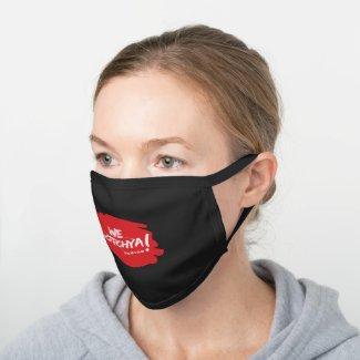 We Gotchya Logo Black Cotton Face Mask