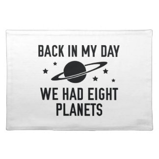 We Had Eight Planets Cloth Placemat