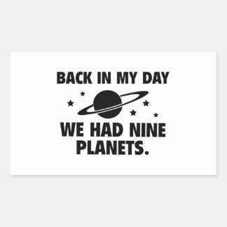 We Had Nine Planets Stickers