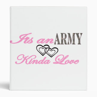 We have a Army Love 3 Ring Binder