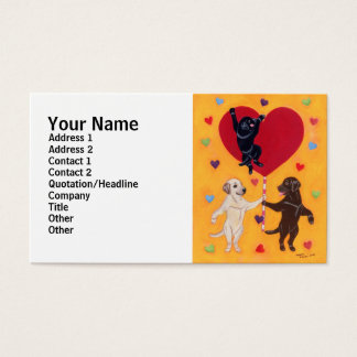 We Have a Big Heart Labradors Painting Business Card