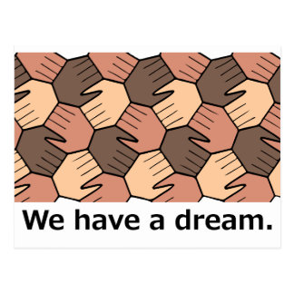 We Have a Dream. Postcard