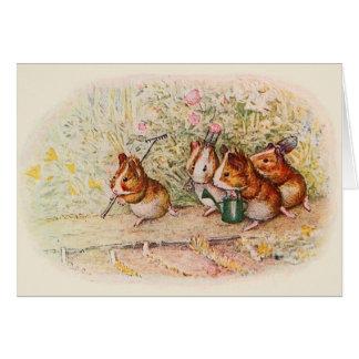 """We have a little garden"" Guinea Pigs Card"