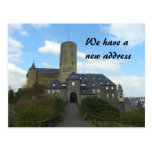 We have a new address - castle cards post card