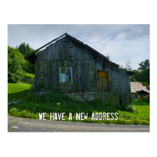 We Have a New Address   Funny Postcard