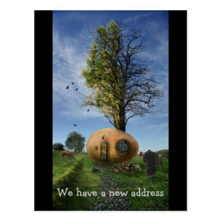 We have a new address | Old Egg House Postcard