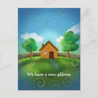 We have a new address - Postcard invitation postcard