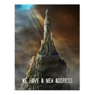 We have a new address - Postcard invitation
