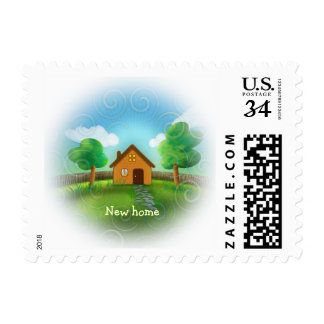 We have a new home | Cute Stamp