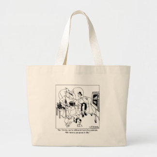 We have a purpose in life jumbo tote bag