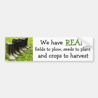 We have a REAL farm! - Gumboots Photo Bumper Sticker