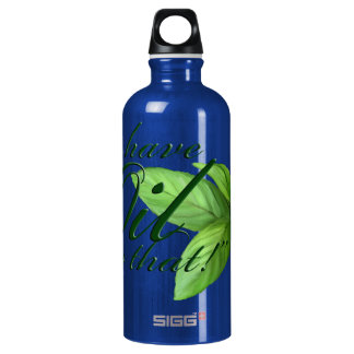We have an oil for that -- Peppermint Leaves Aluminum Water Bottle