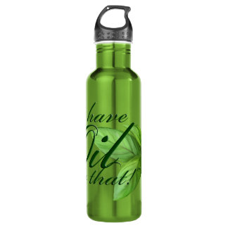 We have an oil for that -- Peppermint Leaves Stainless Steel Water Bottle